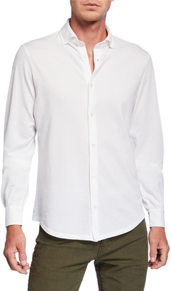 Fedeli Men's Frosted Pique Sport Shirt