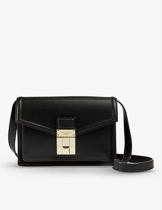 Ted Baker Kayleea luggage lock-detail leather satchel bag