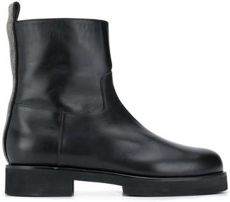 Fabiana Filippi Round Toe Ankle Boots