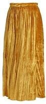 Masscob Gathered velvet wrap skirt