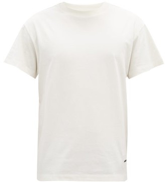 Jil Sander Pack Of Three Crew-neck Organic-cotton T-shirts - White