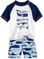 Carter's 2-Pc. Whales Rashguard & Swim Trunks Set, Toddler & Little Boys (2T-7)