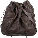 Carlos Falchi Gathered Leather Shoulder Bag