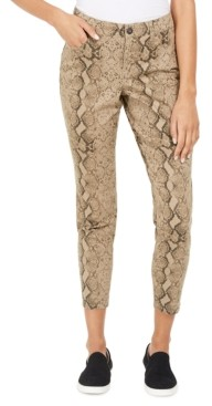 Style&Co. Style & Co Curvy Tummy-Control Printed Skinny Jeans, Created for Macy's