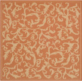 Asstd National Brand Courtyard Scrolls Indoor/Outdoor Square Rugs