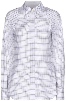 Victoria Beckham Checked cotton twill shirt