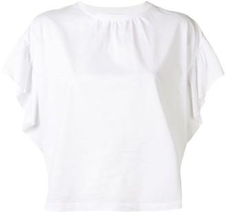RED Valentino ruffle sleeve T-shirt