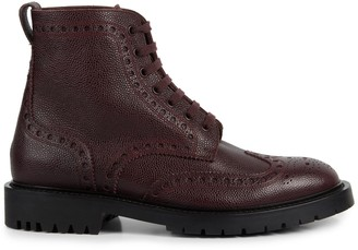 Burberry Barkeston Leather Wingtip Boots