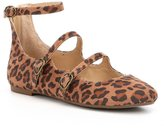 Volatile Wonder Leopard Mary Jane Buckled Multi Strap Flats