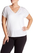 Barefoot Dreams Luxe Milk Jersey V-Neck Tee (Plus Size)