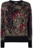 Moncler patterned knit sweater - women - Polyester/Mohair/Wool/Virgin Wool - XS