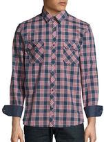 English Laundry Plaid Cotton Utility Shirt