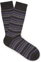 Pantherella Striped Merino Wool-Blend Socks
