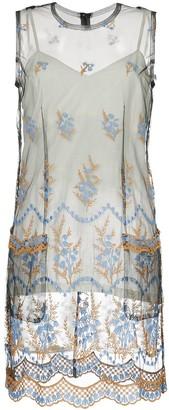 Comme Des Garçons Pre-Owned Sheer Embroidered Dress