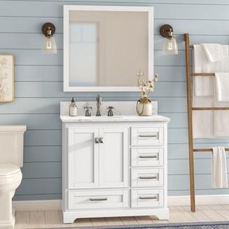 "Gracie Oaks Frieda 36"" Single Bathroom Vanity with Mirror Gracie Oaks"