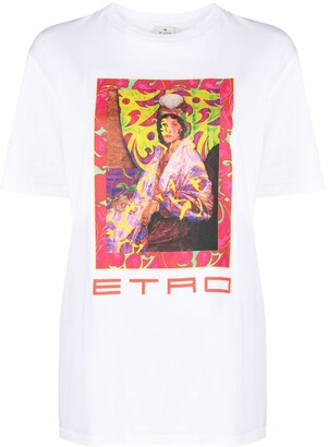 Etro Archive-Print Cotton T-Shirt