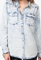 Forever 21 Studded Acid Wash Shirt