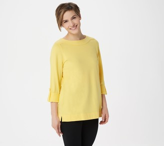 Denim & Co. Active Regular French Terry 3/4- Sleeve Tunic