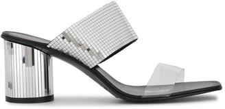 Pedro Garcia Metallic Mid-Heel Sandals