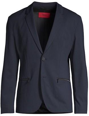 HUGO BOSS Slim-Fit Zip-Pocket Suit Jacket