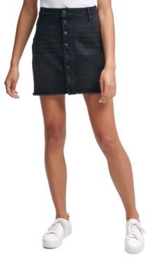Calvin Klein Jeans Button-Front Denim Skirt