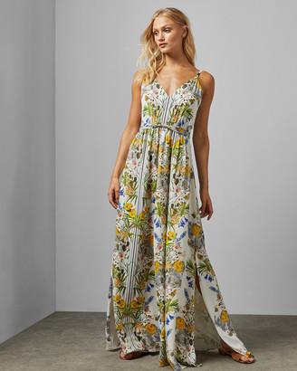 Ted Baker Royal Palm Silk Blend Maxi Dress