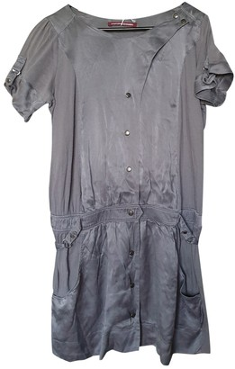 Comptoir des Cotonniers Grey Silk Dress for Women