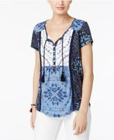 Style&Co. Style & Co Tasseled Peasant Top, Only at Macy's