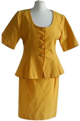 Guy Laroche Yellow Cotton Jacket for Women Vintage