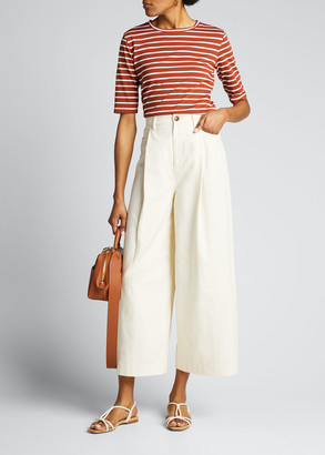 Vince Casual Cropped Wide-Leg Pants