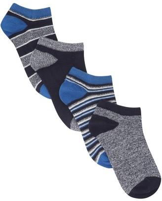 M&Co Stripe trainer socks four pack