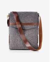Robert Mason robert mason merino wool and leather satchel