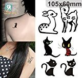 Body Art Temporary Removable Tattoo Stickers Animals Sticker Tattoo - FashionDancing
