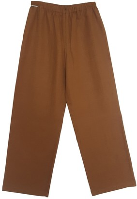 Valentino \N Brown Linen Trousers