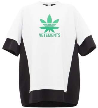 Vetements Maria Double-layer Logo-print T-shirt Dress - Womens - White Black