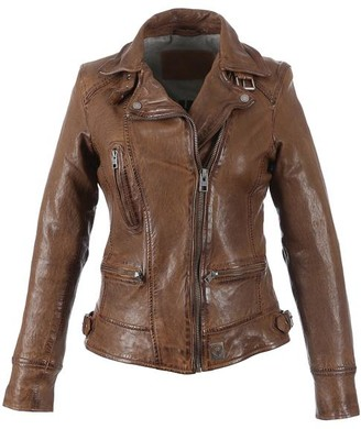 Oakwood Video Tan Leather Jacket - Small