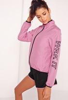 Missguided Active WRK IT Woven Running Jacket Pink