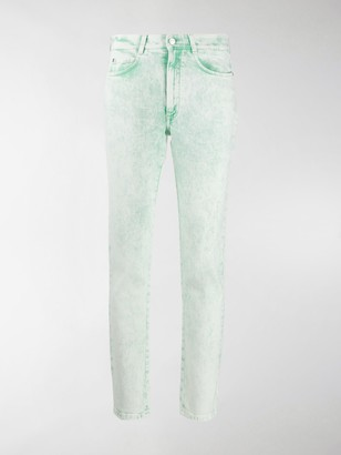 Stella McCartney Acid-Wash Cropped Skinny Jeans