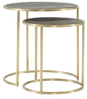 Dupont Everly Quinn 2 Piece Nesting Tables Everly Quinn