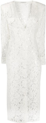 Alessandra Rich Lace Button Front Dress