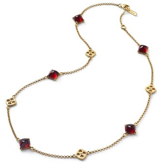 Baccarat Yellow Gold Vermeil and Crystal Medicis Necklace