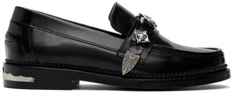 Toga Pulla Black Leather Hardware Loafers