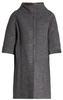 Herno Detachable-sleeved funnel-neck bouclé coat