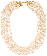 Kenneth Jay Lane Women's Organic Pearl Layer Necklace