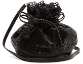 Simone Rocha Laser-cut flower leather bucket bag