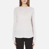 Helmut Lang Women's Long Sleeve Thumb Hole TShirt - White Melange