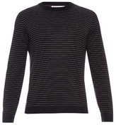 Brunello Cucinelli Striped Wool And Cashmere-blend Sweater
