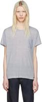 Burberry White & Blue Striped Milford T-Shirt