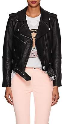 Current/Elliott Women's The Shaina Leather Biker Jacket - Black