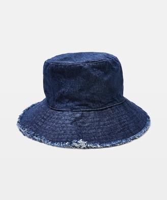 Insight Frayed Bucket Hat Denim